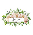 v card floral flower bouquet design with peach vector image