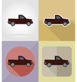 transport flat icons 07 vector image