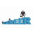 Career ladder Career motivation Achieve improve on vector image