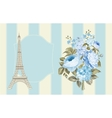 Eiffel tower post card vector image