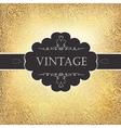 vintage golden card vector image vector image