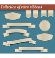 Collection of retro ribbons and tags vector image vector image