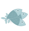 fish isolated on white background vector image