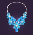 womans necklace with precious vector image vector image