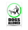 Dogs allowed sign vector image vector image