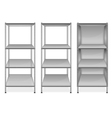 empty bookshelves vector image