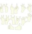 sketching of hand gestures vector image