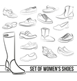 Set in the middle of women s shoes heels painted vector image