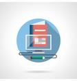 Virtual school color detailed icon vector image
