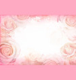 abstract romantic rose horizontal background vector image