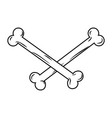 crossbones isolated bones on white background vector image