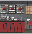 Design coffe shop amp cafe vector image