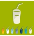 Flat design soda vector image