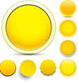 Round yellow icons vector image