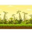 Seamless fantasy landscape vector image