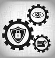 security data system gears concept vector image