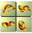 Set of Abstract autumn different color leaves vector image