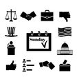 Voting and elections black icons vector image