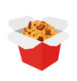 wok boxasaian fast foodcartoon flat style vector image