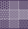 arabic seamless patterns set from simple geometric vector image