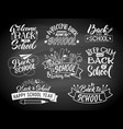 set of monochrome school labels emblem vector image