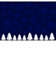 Merry Christmas Landscape Forest Background vector image