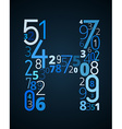 Letter H font from numbers vector image