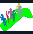 people team on symbol arrow to progress success vector image vector image