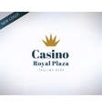 Casino logo icon Poker cards or game and vector image