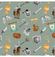 Knight Seamless Pattern vector image