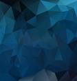 dark sapphire blue polygon triangular pattern vector image