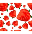 strawberries seamless background vector image vector image