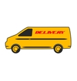 Delivery car in flat design vector image