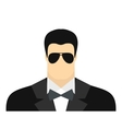 Bodyguard agent man flat icon vector image