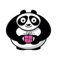 Cartoon panda with gift vector image