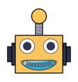 cartoon robot head icon vector image