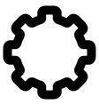 Cogwheel Stroke Icon vector image