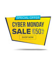 cyber monday sale banner shopping vector image