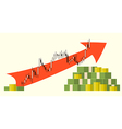 forex money growth vector image