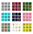 icons set in flat style human bones vector image