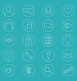 Line Icons For Business Office Icons Set vector image