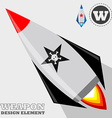 Rocket design element vector image