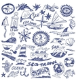 sea travel - doodles vector image
