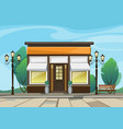 shop boutique store with windows greenery vector image