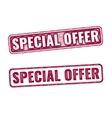 Special offer grunge rubber stamp isolated on vector image