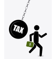 Taxes design vector image