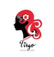 Virgo zodiac sign Beautiful girl silhouette vector image