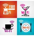 wifi cafe symbols vector image