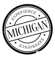Michigan stamp rubber grunge vector image
