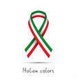 modern colored ribbon with the italian tricolor vector image vector image